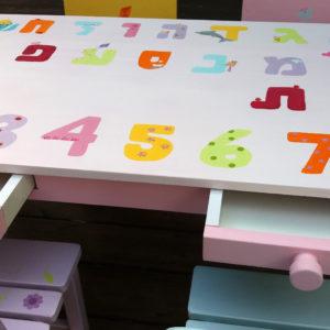 שולחן וכסאות לפעוטות- דגם: אותיות ומספרים 3