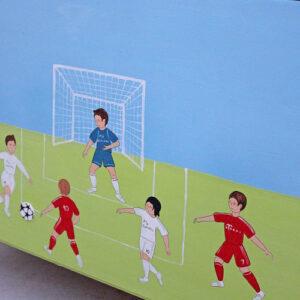 ארגז מעוצב לחדר ילדים -כדורגל - ספורט 4