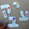אותיות מעוצבות לחדר ילדות- דגם: ורוד/לבן/תכלת 7